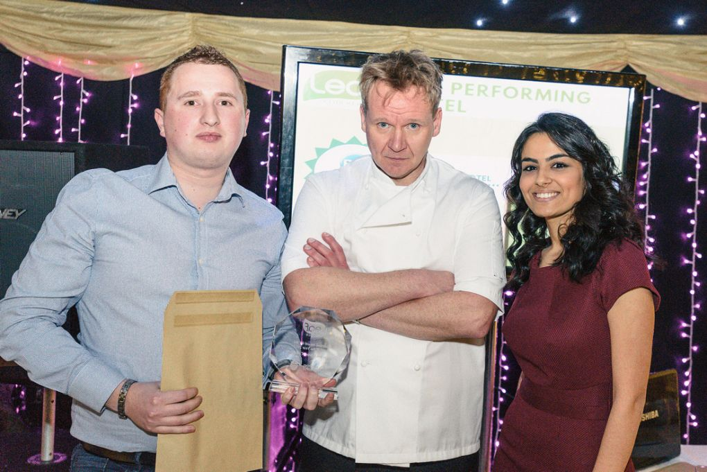 Gordon Ramsay lookalike at The Ramada Dover Awards night
