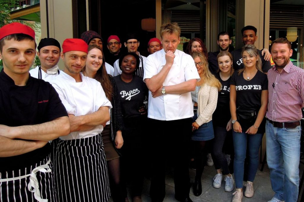 Gordon Ramsay lookalike Martin Jordan Bryon Restaurant opening Intu