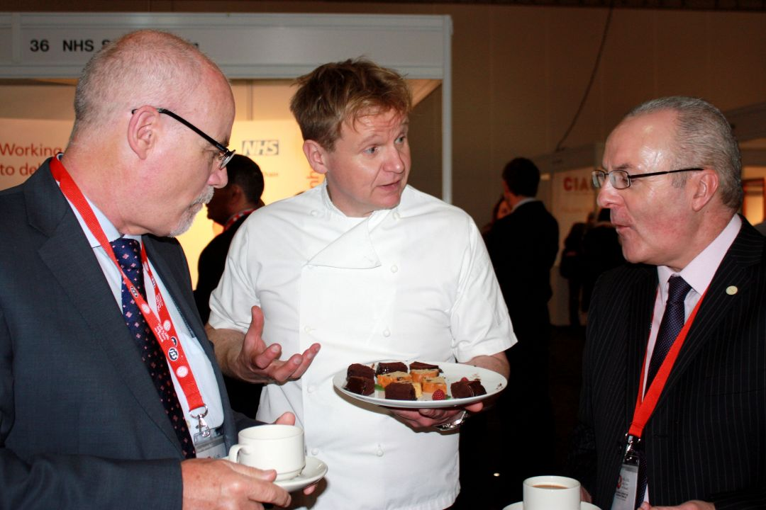 Gordon Ramsay lookalike Trade Show