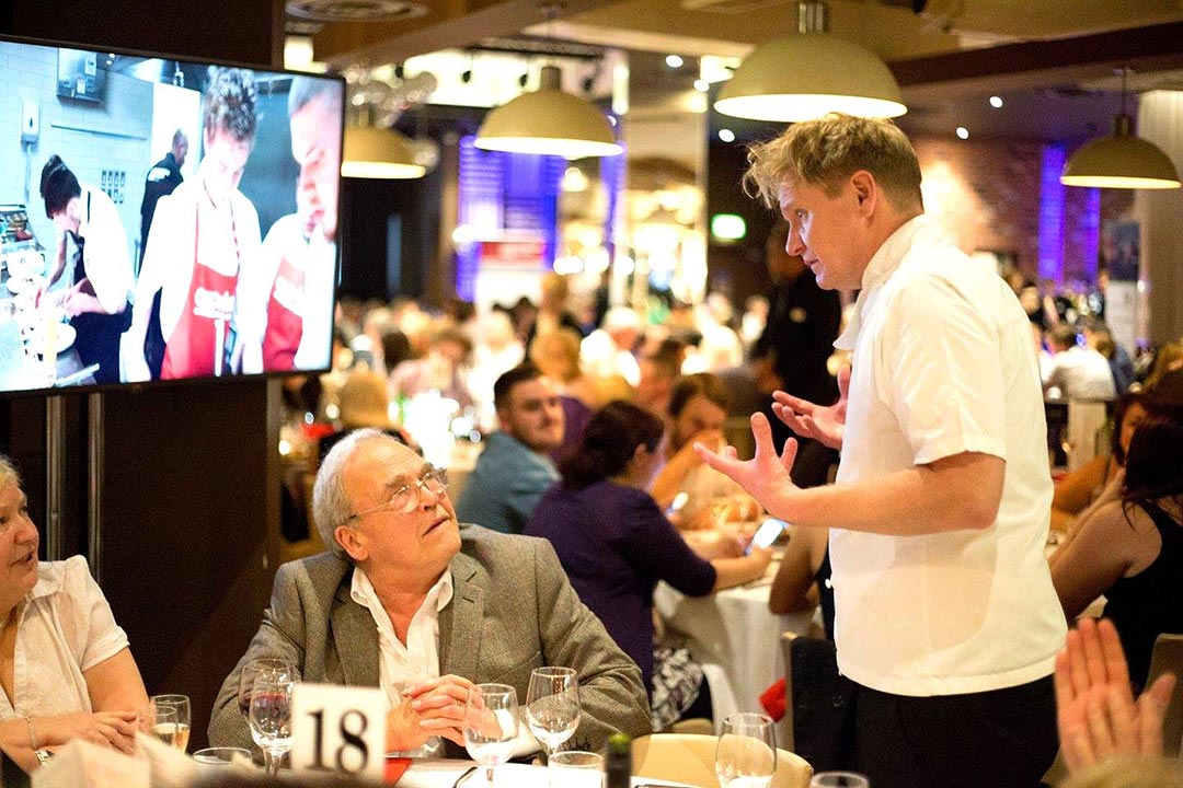 Gordon Ramsay lookalike at your Restaurant promotion