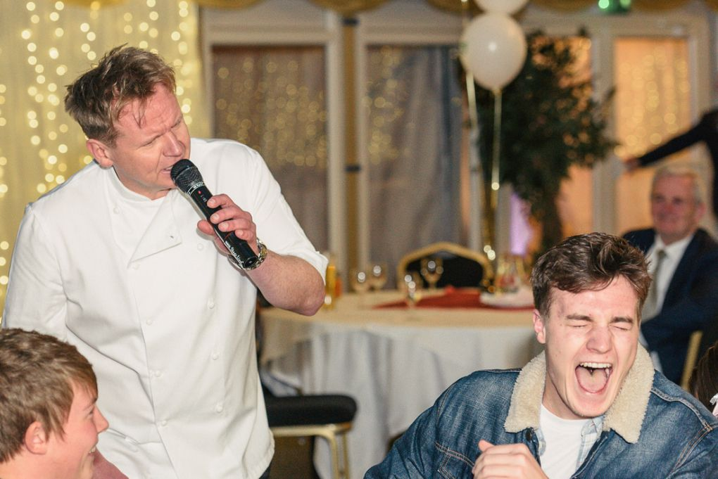 Entertain your guests with a Gordon Ramsay Lookalike