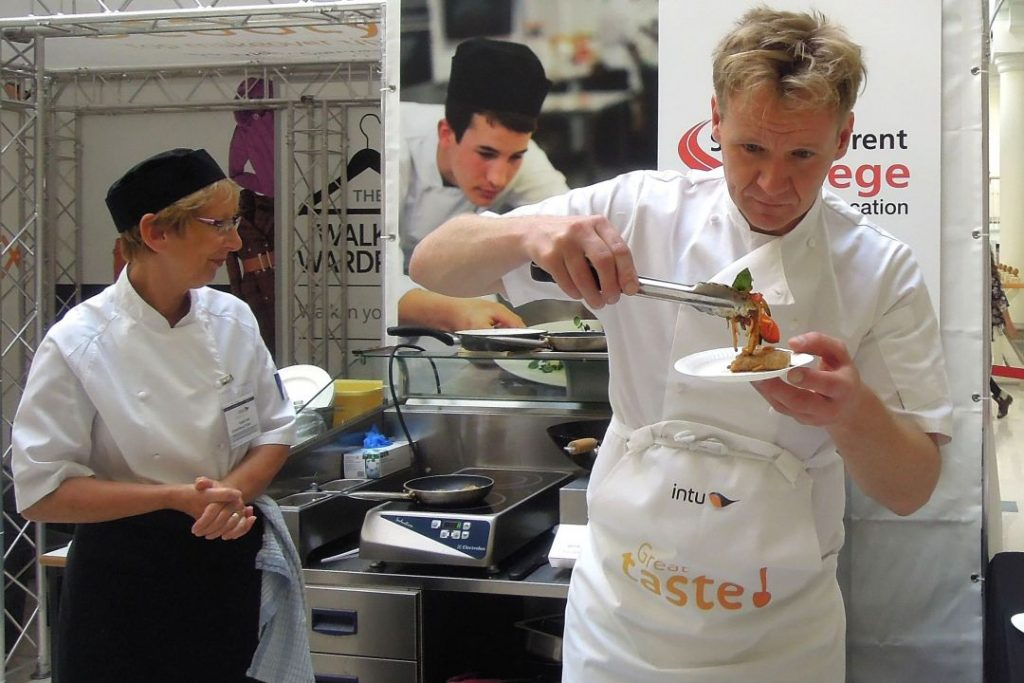 Gordon Ramsay lookalike Martin Jordan food promotion