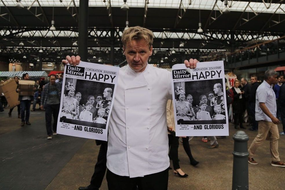 Gordon ramsay lookalike Historic Newspapers Pr stunts