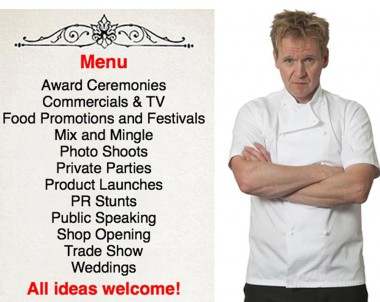 Gordon Ramsay Lookalike at new Kitchen showroom 27th May