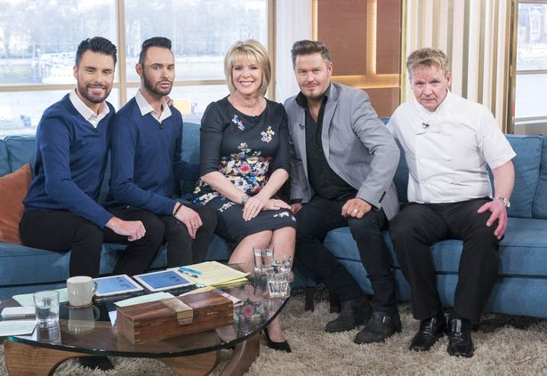 Gordon Ramsay lookalike on the This Morning show