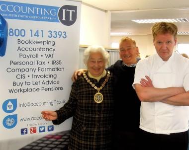 Gordon Ramsay Lookalike at Accounting It
