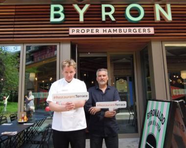 Gordon Ramsay lookalike and Paul Hollywood lookalike at Byron Intu Bromley