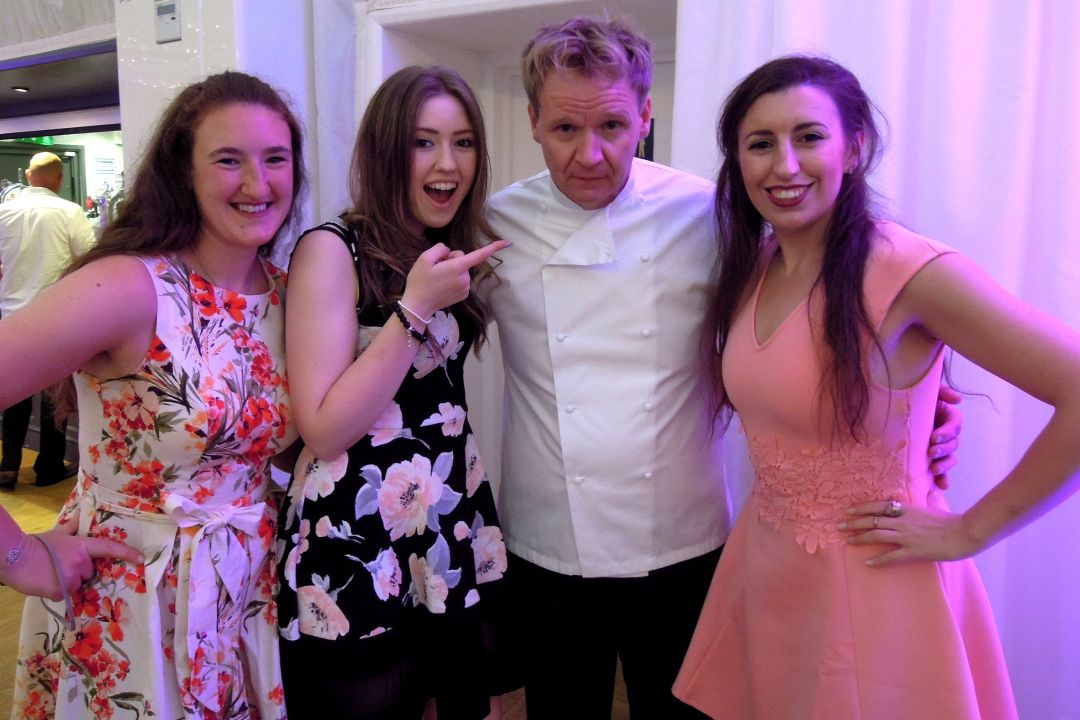 Gordon Ramsay lookalike Martin Jordan mix and mingle artist