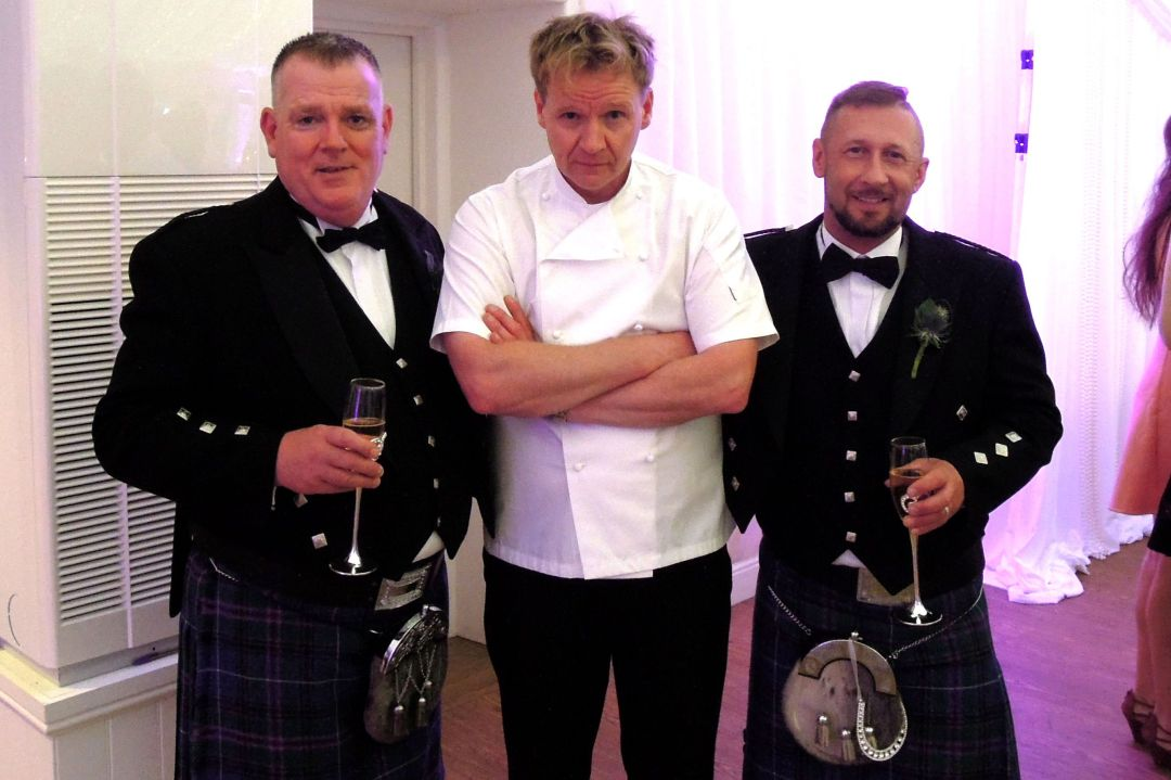 Wedding appearance by Gordon Ramsay lookalike Martin Jordan