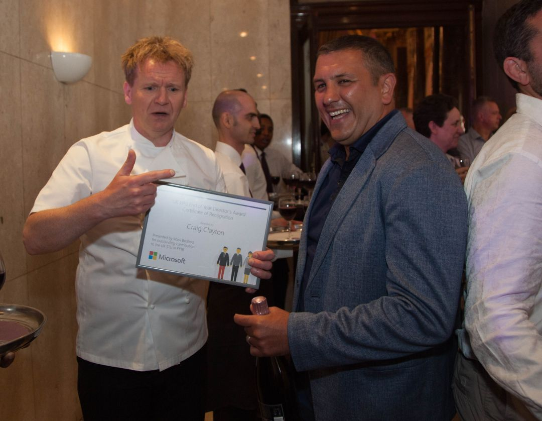Microsoft party awards Gordon Ramsay lookalike web