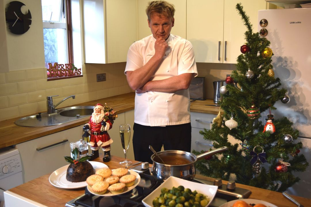 Gordon Ramsay lookalike seasons greetings