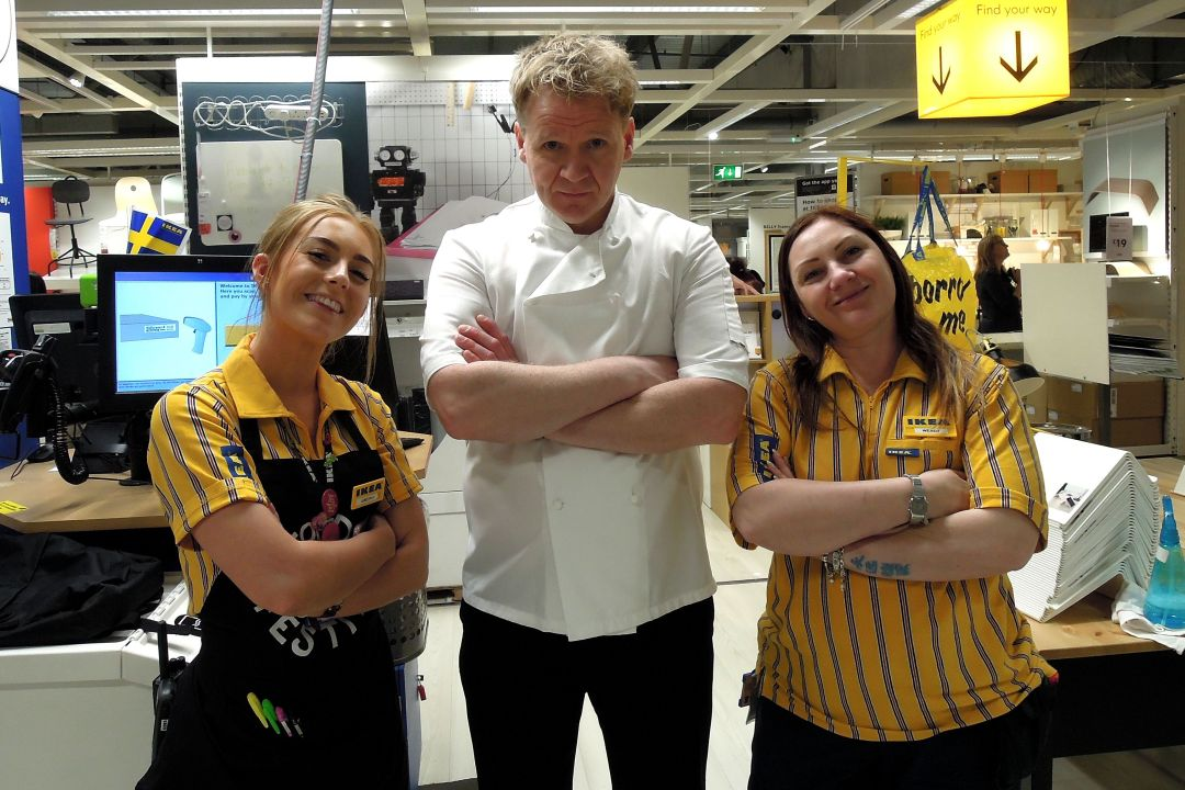 Gordon Ramsay Lookalike surprises shoppers at Ikea Nottingham