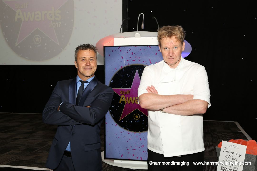 Gordon Ramsay Lookalike at the Intu staff awards night
