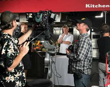 Filming at KitchenAid experience store in London