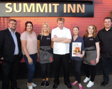 Gordon Ramsay Lookalike at the Summit Inn Oldham