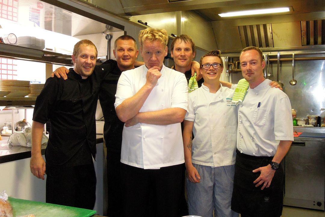 Gordon Ramsay Lookalike at Tregenna Castle St Ives wedding chefs