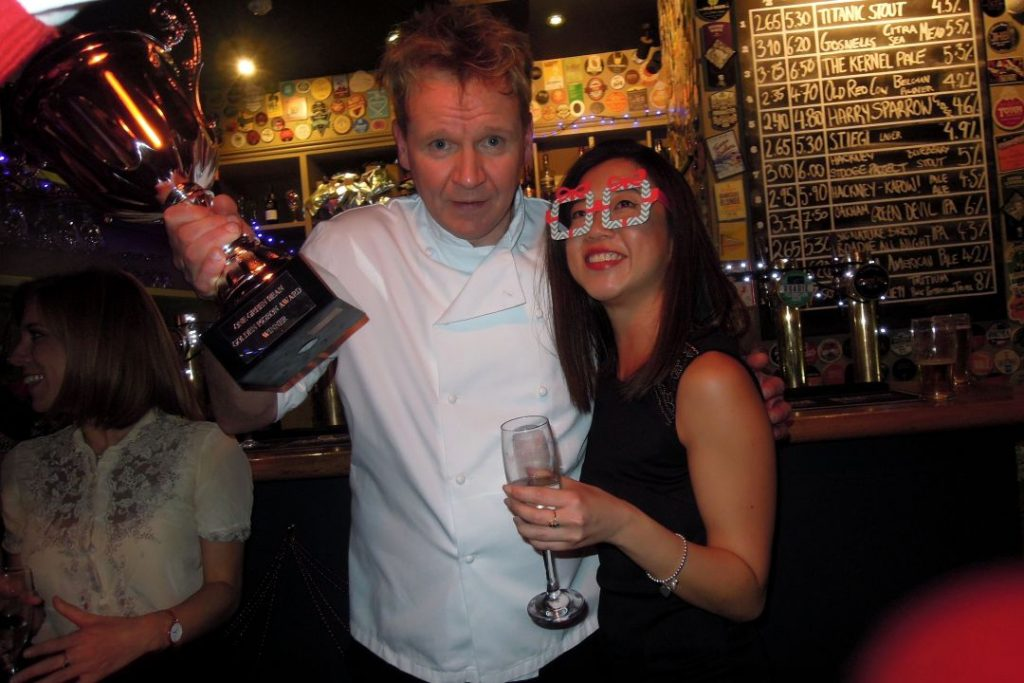 Award Ceremony Gordon Ramsay lookalike
