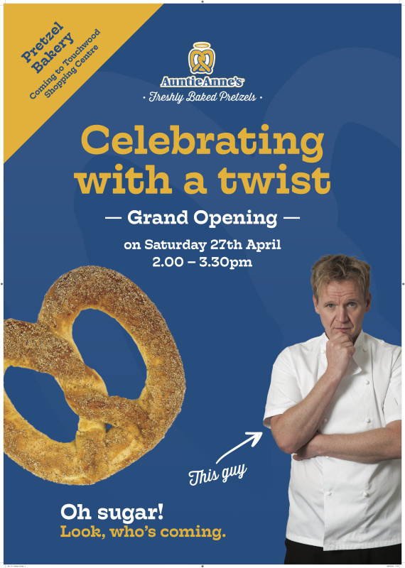 Gordon Ramsay Lookalike at Auntie Anne's opening